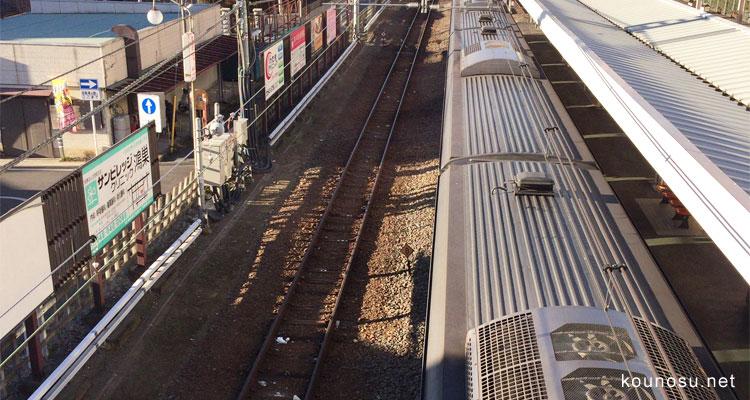 鴻巣駅、線路