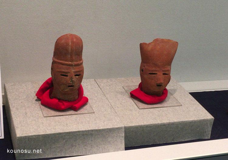 人物埴輪頭部