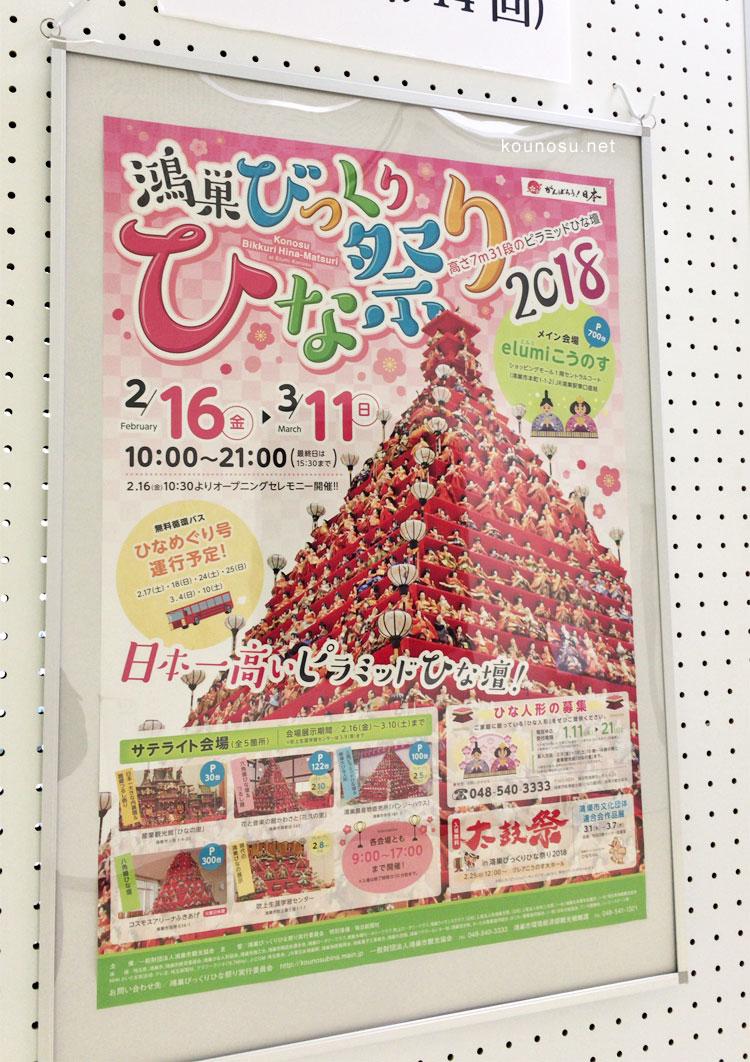 鴻巣びっくりひな祭りポスター2018年(第14回)