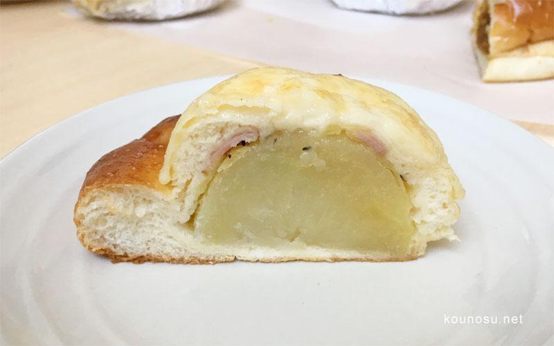 サントノーレ・コミヤ ポテトパン 断面