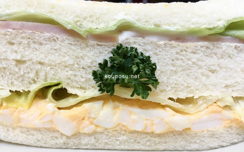 サントノーレ・コミヤ サンドイッチ 断面