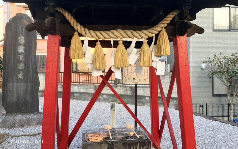 埼玉県鴻巣市「大野神社」 手水の手順