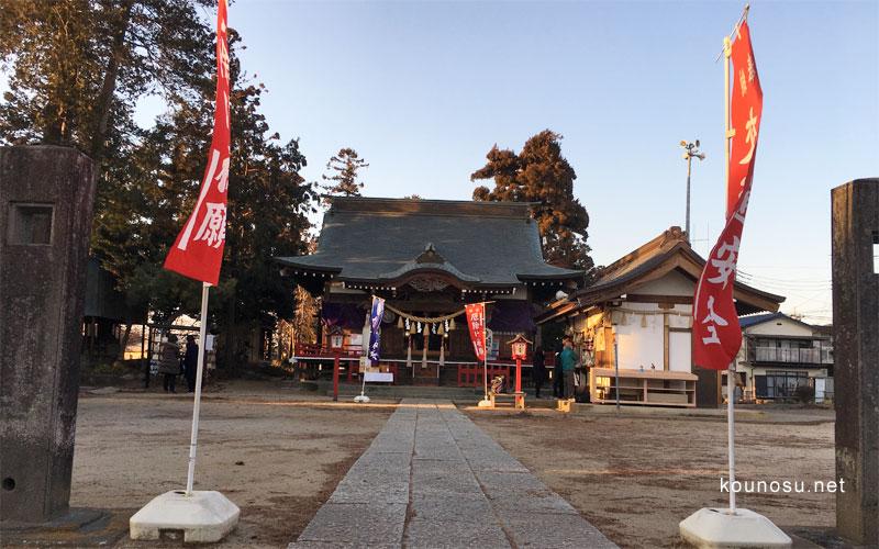 埼玉県鴻巣市「大野神社」 拝殿 参拝